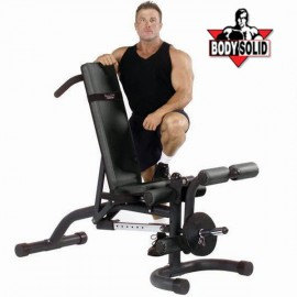 BODY SOLID PANCA PIANA INCLINABILE CON LEG-EXTENSION FID46